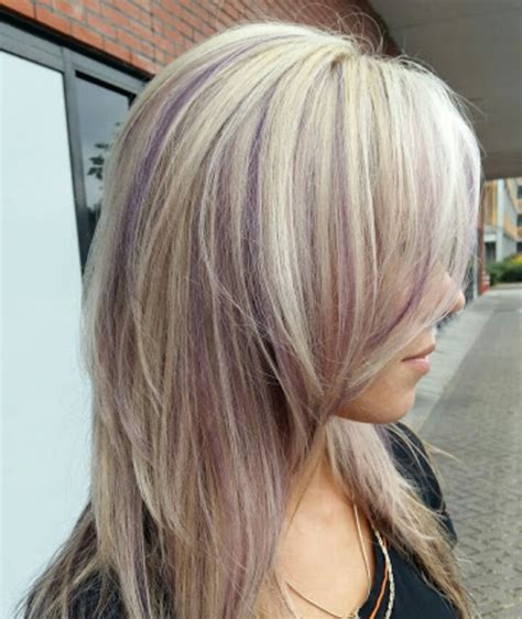Hair Color Pictures Blonde Purple Lowlights | blonde hair with purple highlights hair colors and