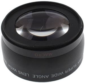 super wide angle lens with macro 58mm for canon black