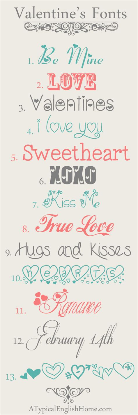 valentines fonts a typical home best free s day fonts
