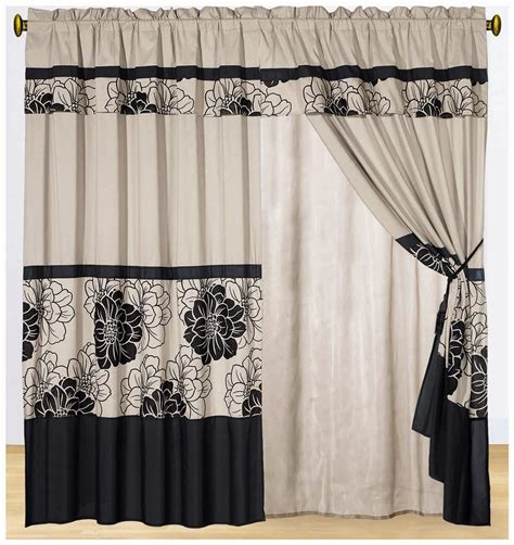 king linen curtains cheap 8 piece black color flower beige luxury drape animal