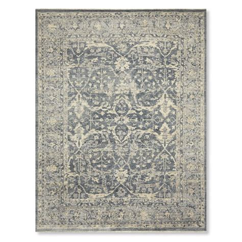 williams sonoma home rugs fields knotted rug blue williams sonoma