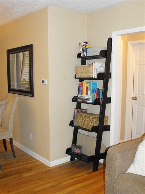 white leaning bookshelf narrow diy projects