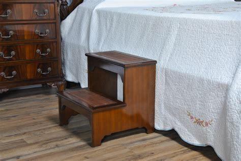 Leather Bed Steps , high quality bedroom furniture