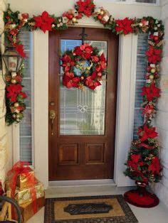 command strips christmas decorating frontdoor garland lighted garland inside the front door hang w command strips stuff