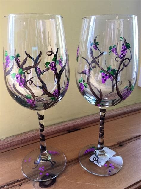 wine glass painting melisa s wine glass painting the pottery
