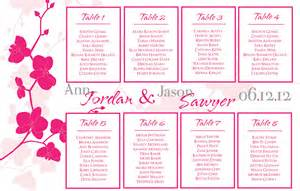 orchids wedding seating chart 24 x 18 by seatedwithstyle