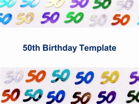 powerpoint template birthday 50th birthday template