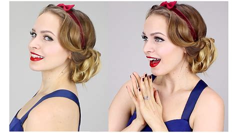 easy 1930 hair easy snow white updo 1930s youtube