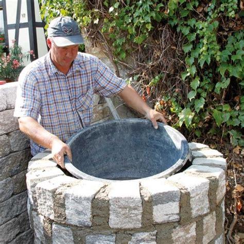 steinbrunnen garten selber bauen deko brunnen selber bauen