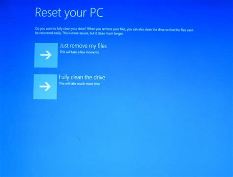 windows resetting your pc how to restore dell laptop to factory settings without