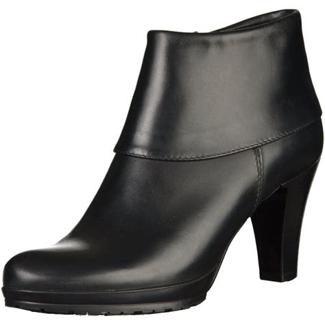25460 25 black leather ankle boot