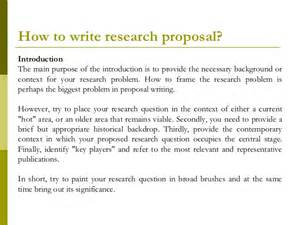Example Of Introduction In Thesis Proposal Research Proposal