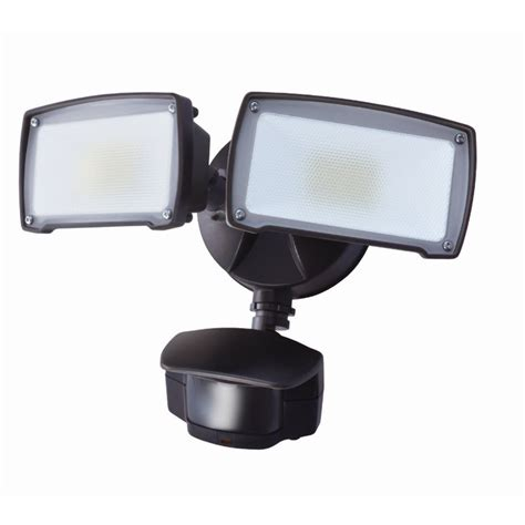 Led Outdoor Flood Lights Motion Sensor Shop Utilitech Pro 180 Degree 2 Bronze Led Motion Activated Flood Light At Lowes
