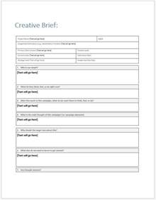 agency client creative input brief template clickstarters