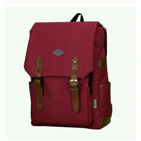Tas Ransel Korean Style Pink korean style bag backpack pria wanita unisex tas