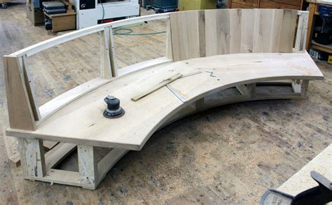 how to build a curved bench a fitted curved bench by dan mosheim lumberjocks com