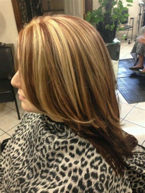 auburn hair with blonde highlights for mature women pinterest the world s catalog of ideas