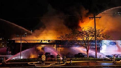 3 alarm fire damages Ford dealership in Bellevue   KOMO