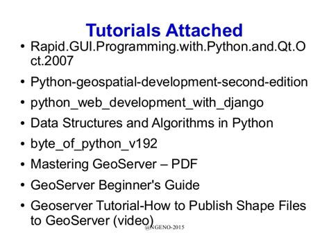 django tutorial for beginners pdf ages presentation on web python django and geoserver