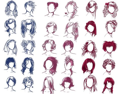 step by step hairstyles to draw i really wanted to draw some hair styles by solstice 11 on