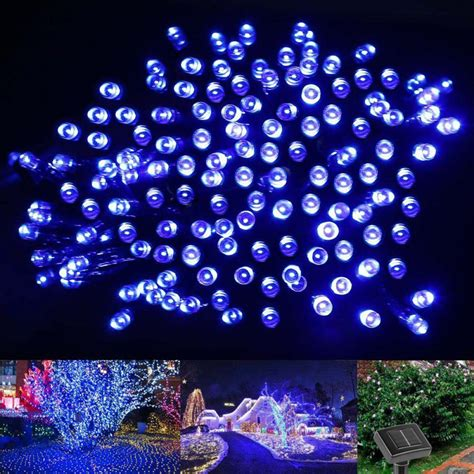10m 60 led string solar light garden outdoor xmas