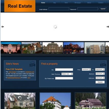 Real Estatelogo Design Gallery Inspirationlogomix El Real Estate Realtor Website Design Templates