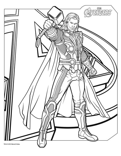 superhero coloring pages avengers coloriage thor the avengers http www papa blogueur com