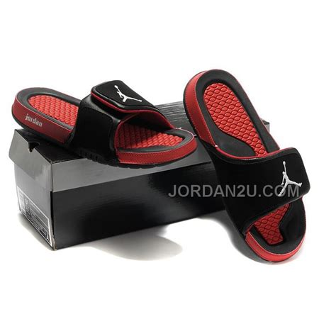 men jordan 2 hydro c air jordan 2 hydro slide sandals black red on sale price