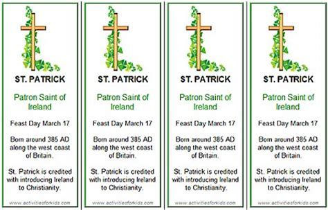 St S Day Bookmarks Printable