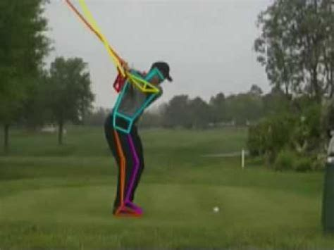 tiger woods perfect swing tiger woods near perfect golf swing as analyzed by nbc