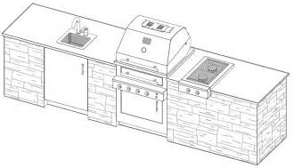 Outdoor Kitchen Floor Plans by Outdoor Kitchen Plans With Cad Pro