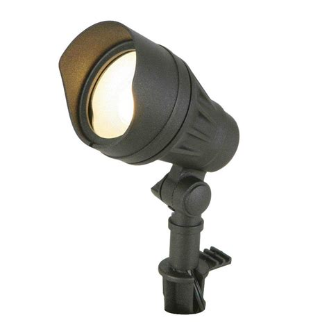 led low voltage outdoor flood lights hton bay low voltage 20 watt bi pin black flood light