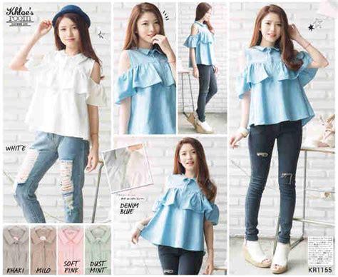 Marina Blouse Batik Katun Batik Streatch Mix Fit Atasan Wanita baju lucu i l o v e f a s h i o n s s page 2