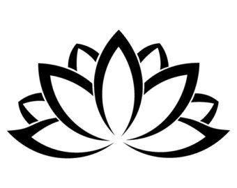 lotus simple black vector   tattoo clipart best