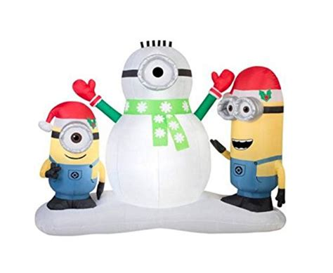 Outdoor Christmas Inflatable Yard Decorations by Christmas Inflatable Minion Stuart Amp Kevin Building