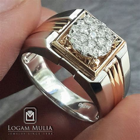 Promo Anting Giwang Berlian Ring Emas jual cincin berlian pria dvmc rmf3324a sten logammuliajewelry