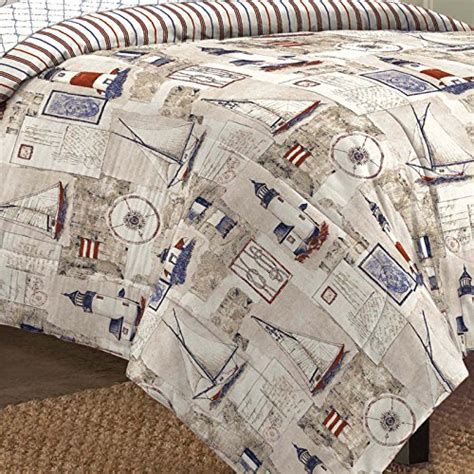 seashell bedding in a bag free spirit cape cod nautical lighthouse bed in a bag