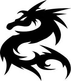clipart tribal dragon design