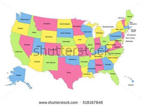 map of the united states hawaii state outlines stock images royalty free images vectors