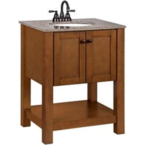 American Classic Vanity by American Classics Palisades 27 In W Vanity In Bourbon Cherry With Granite Vanity Top In Taupe