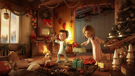 images of christmas morning christmas morning by kleber3ds cartoon 3dtotal com