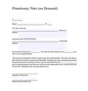 demand loan template sle demand promissory note 9 free documents in pdf word