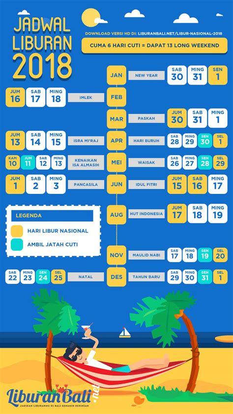 Kalender 2018 Indonesia Libur Nasional Kalender Libur Nasional 2018 Dan Cuti Bersama Di Indonesia