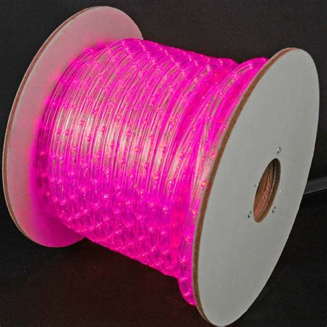 hop pink led rope lights150 foot spool 150 led pink rope light spool 1 2 inch 120 volt