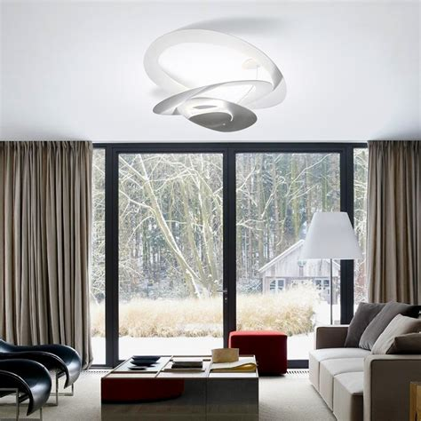 pirce soffitto artemide pirce plafonnier design en led et halog 232 ne