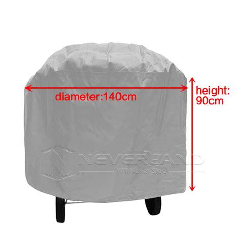140cm large round bbq gas grill barbecue cover waterproof