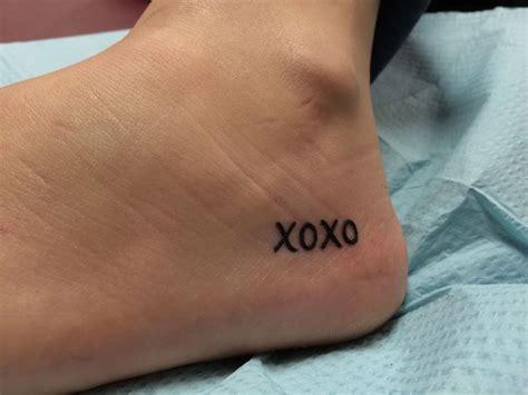 Xoxo Tattoo Ideas | 45 best xoxo tattoos wrist images on pinterest tatoos