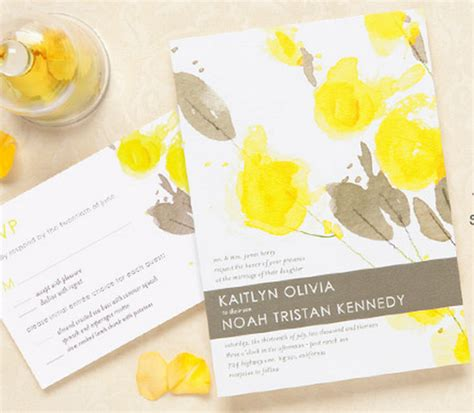 wedding invitation design yellow yellow wedding invitations bitsy bride