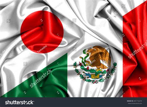 Mexico Address Lookup Waving Flag Of Mexico And Japan Stock Photo 281716274