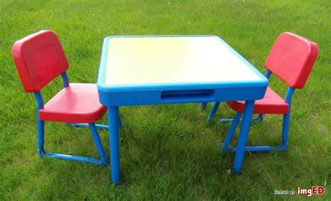 fisher price table chairs vintage fisher price child size table w 2 chairs yellow